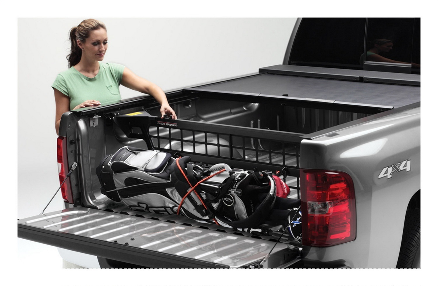 Cargo Managerr Rolling Truck Bed Divider, For Use Only w/Roll-N-Lock Covers