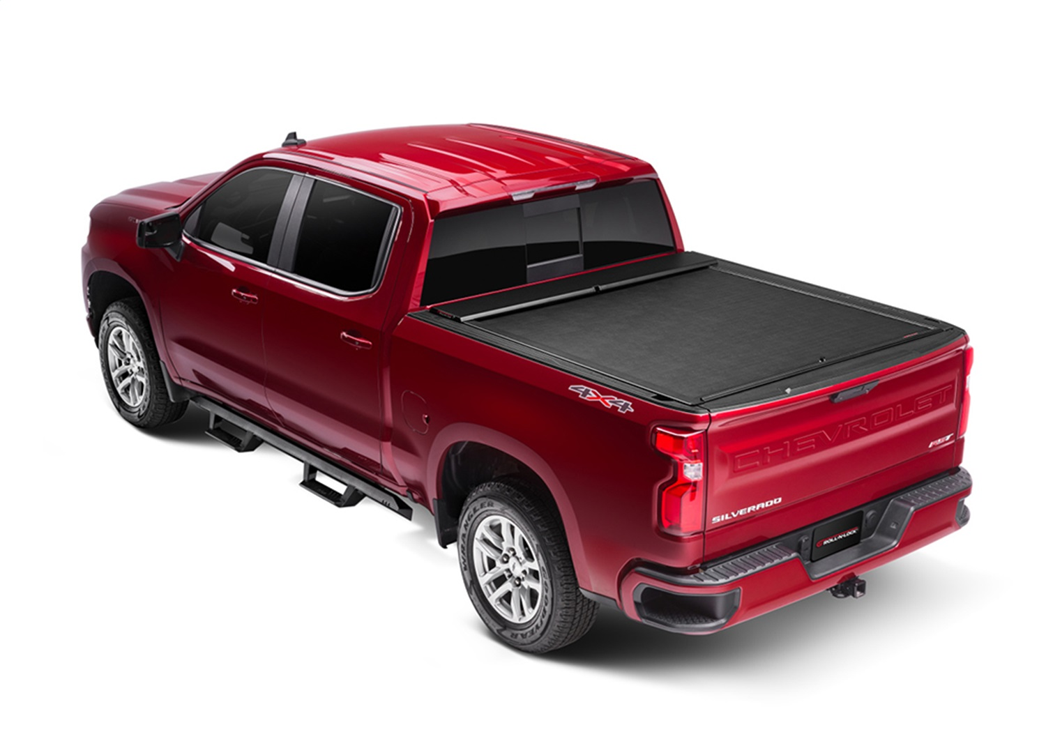 Roll-N-Lockr M-Series Truck Bed Cover, Manual Retractable, OE Front Cargo Tie Downs Must Be Removed