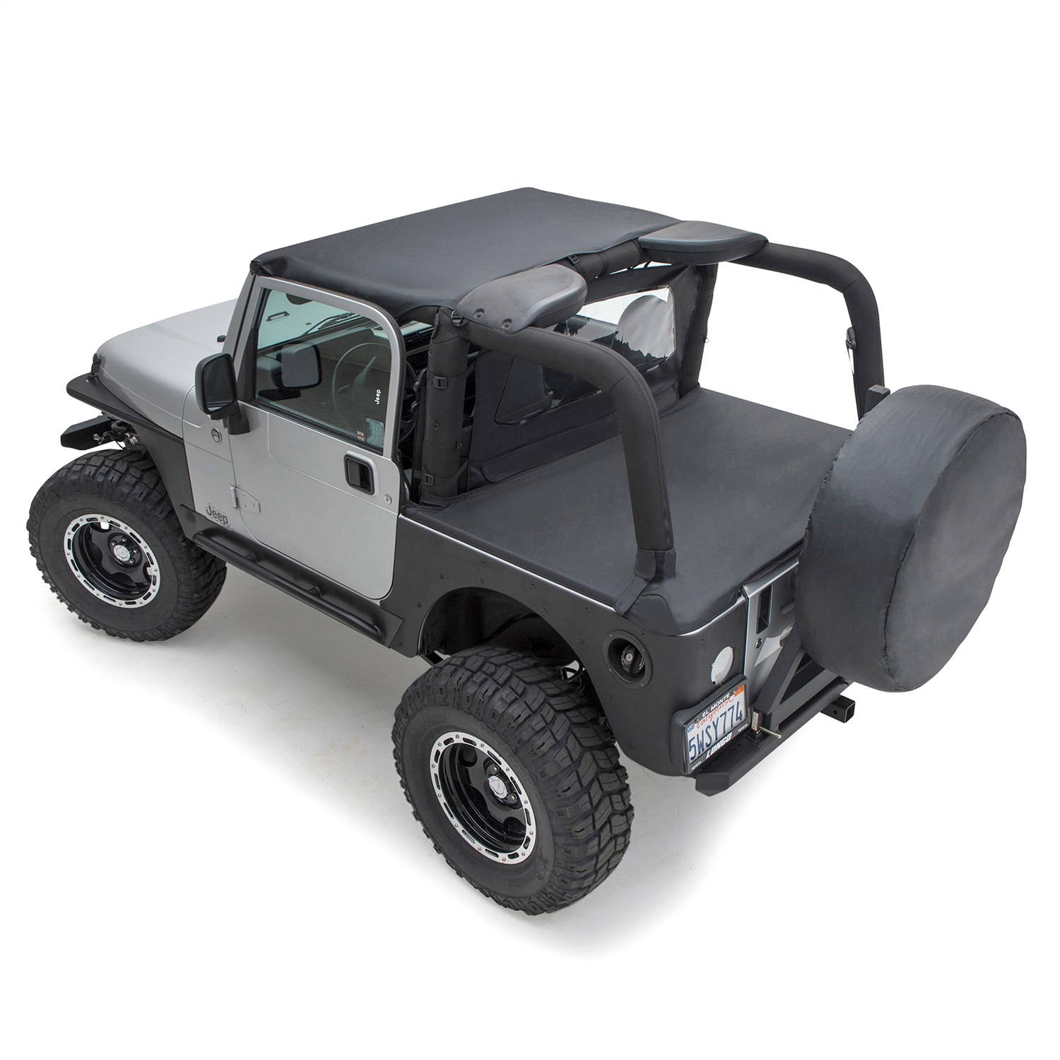 New Tonneau Cover Deck Cover 761035 Black Diamond 97 06 For Jeep Wrangler Tj