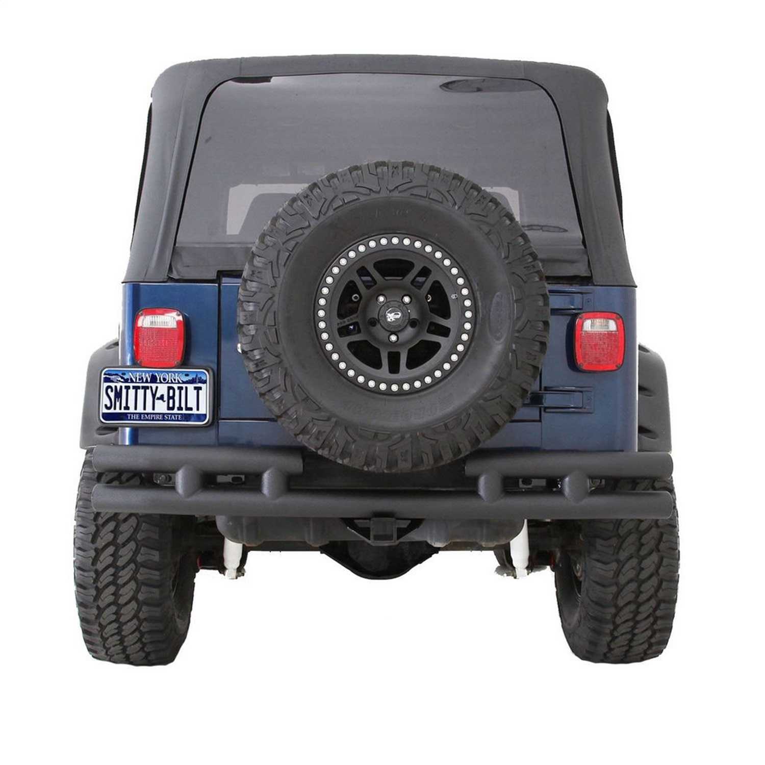 Smittybilt JB48-RT Tubular Bumper Rear Without Hitch For 07-13 Jeep JK Wrangler