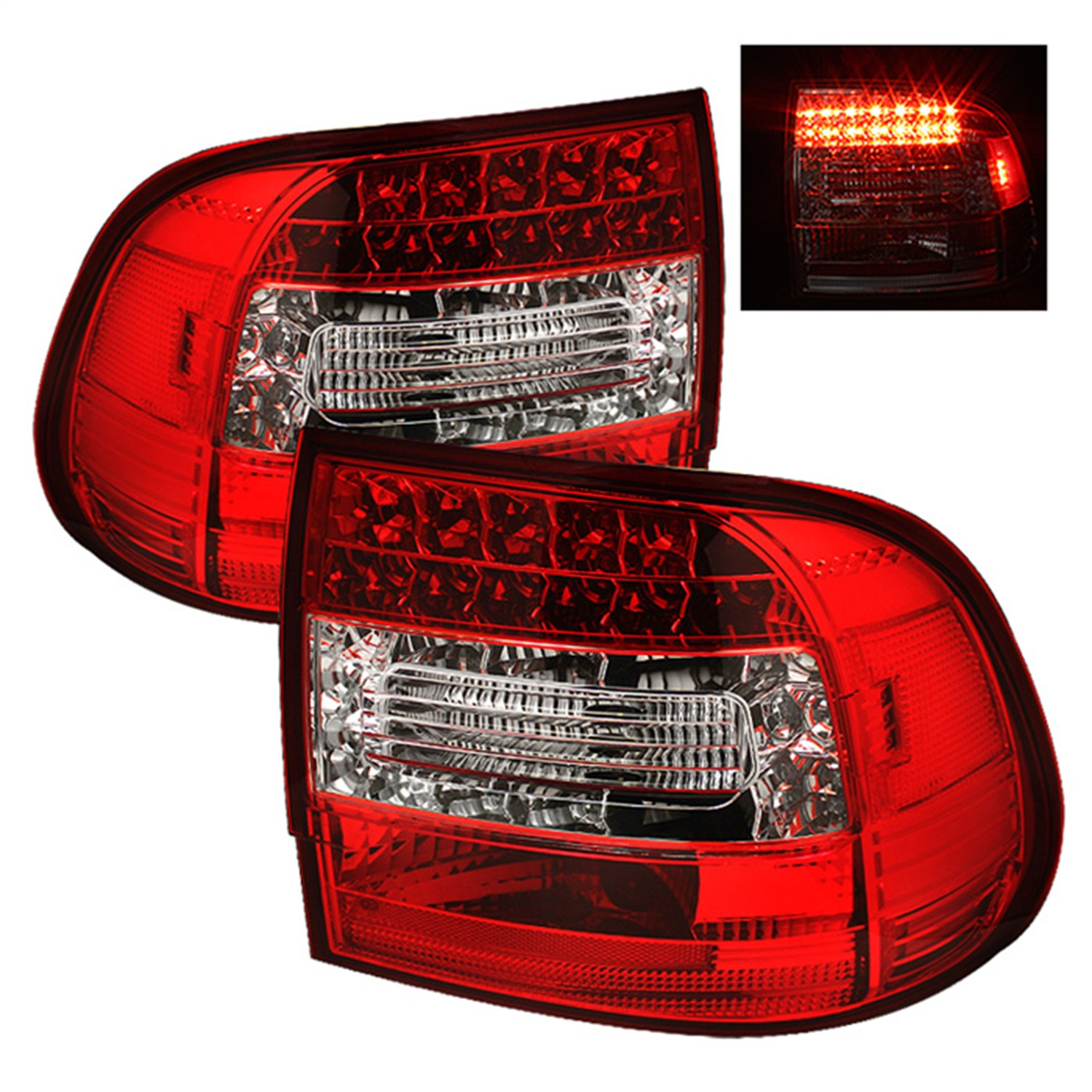 Spyder Auto 5007087 LED Tail Lights Fits 03-06 Cayenne
