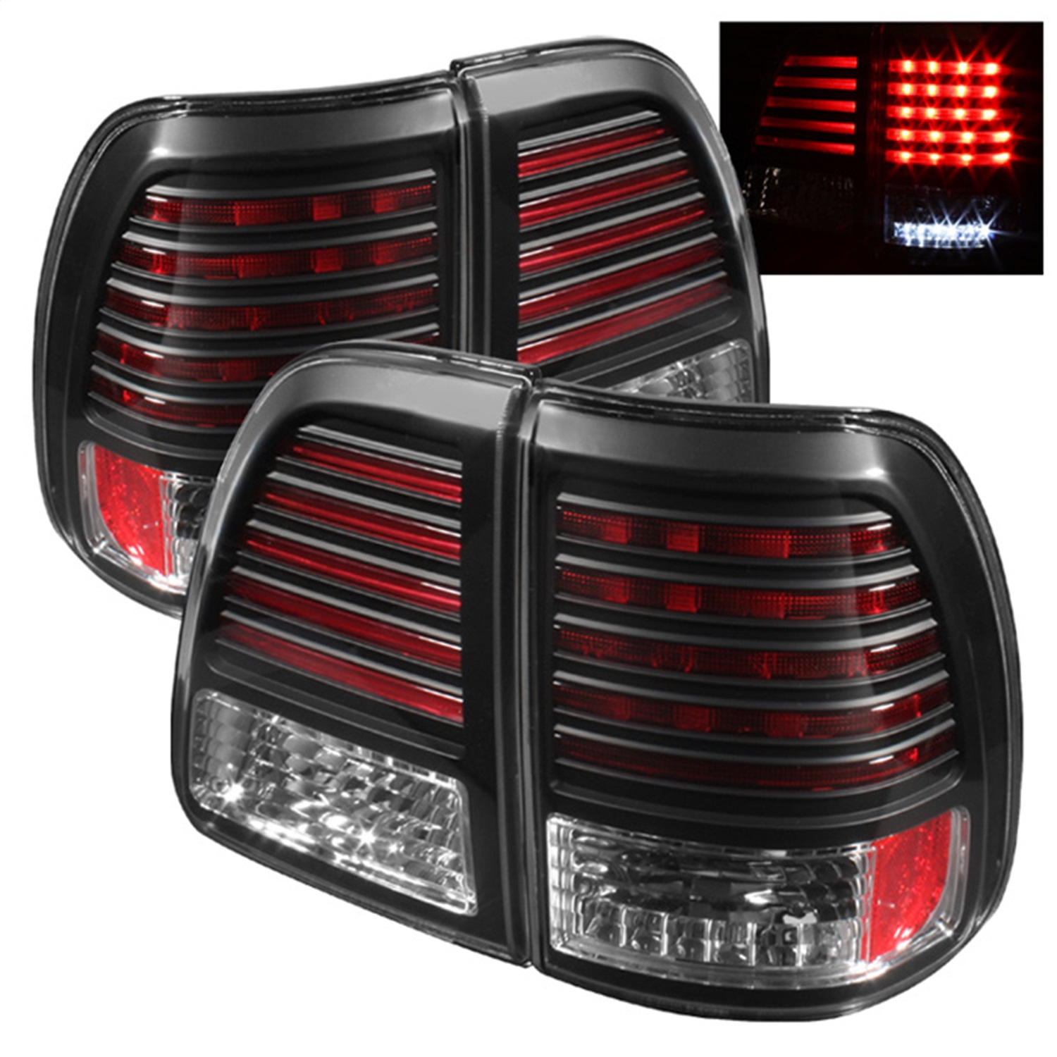 Spyder Auto 5007537 LED Tail Lights Fits 98-05 Land Cruiser
