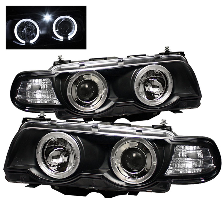 Spyder Auto 5008862 Halo Amber Projector Headlights Fits 99-01 740i 740iL 750iL