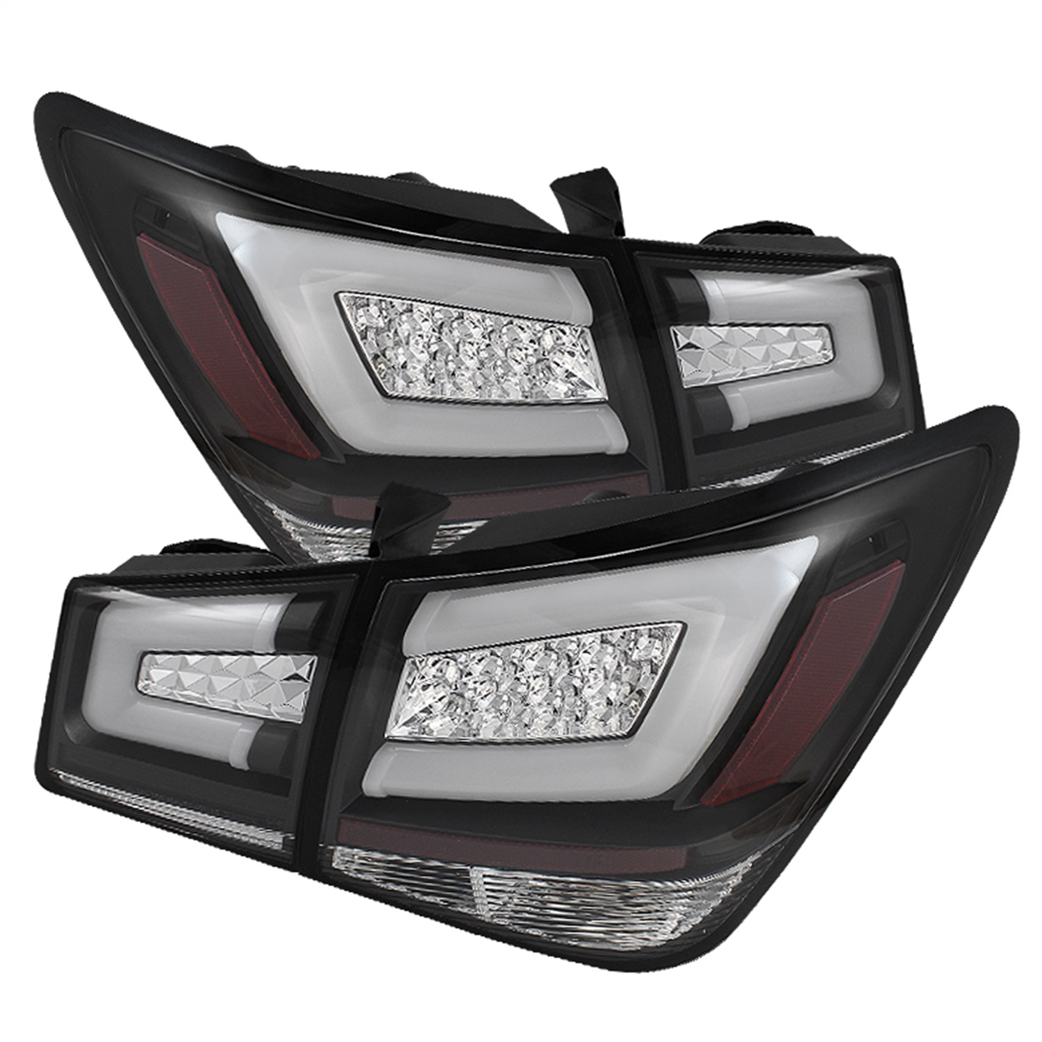 Spyder Auto 5076595 Light Bar LED Tail Lights Fits 11-16 Cruze Cruze Limited