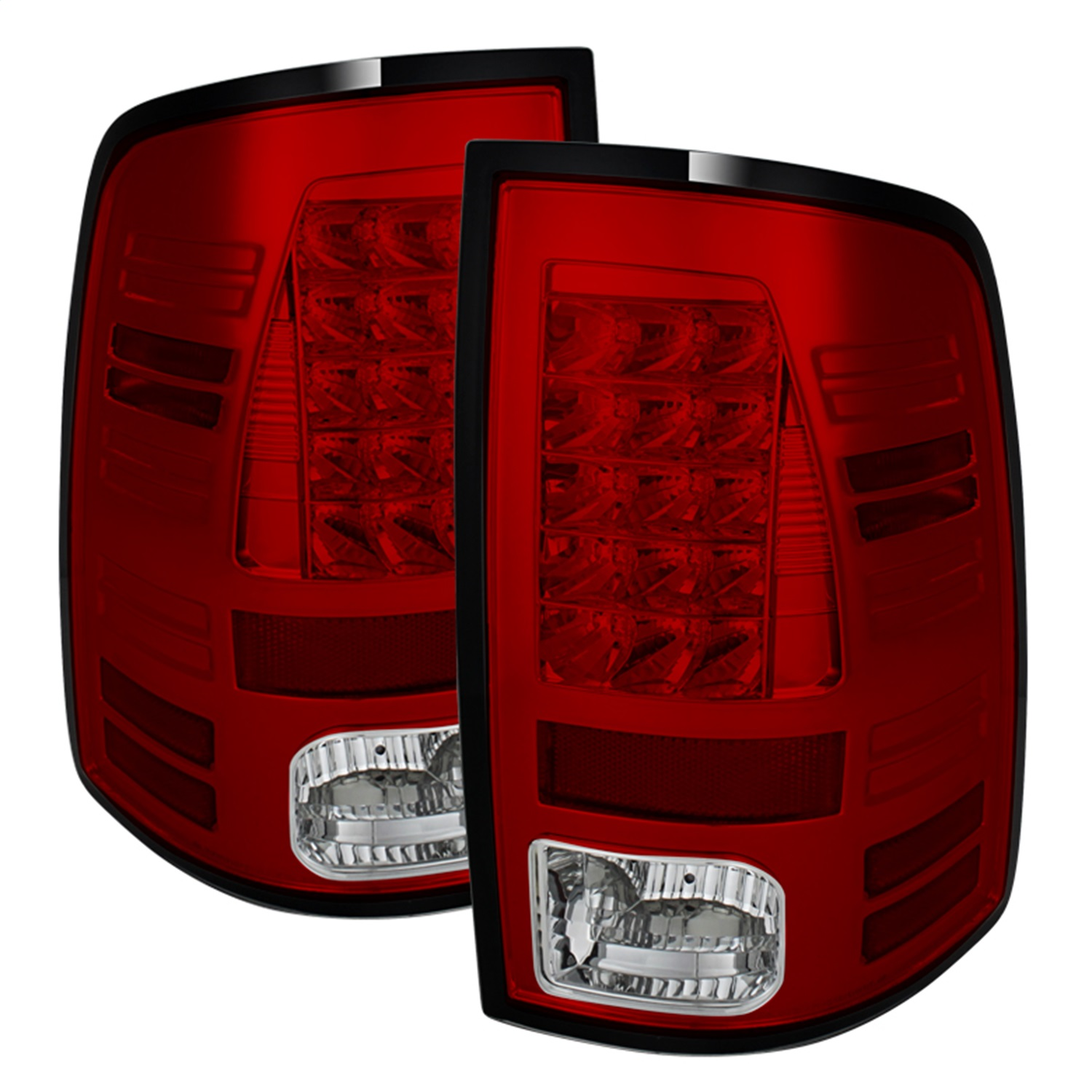 Spyder Auto 5077547 LED Tail Lights Fits 13-18 1500 2500 3500