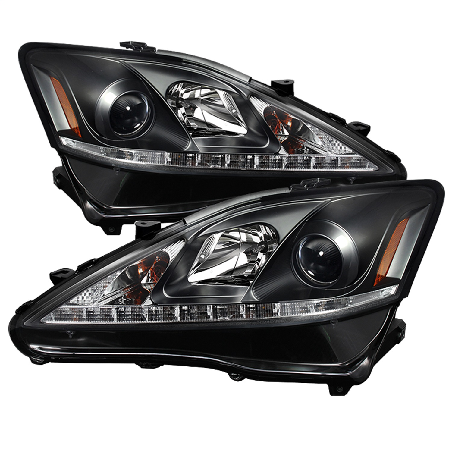 Spyder Auto DRL Projector Headlights Fits 06 10 IS250 IS350