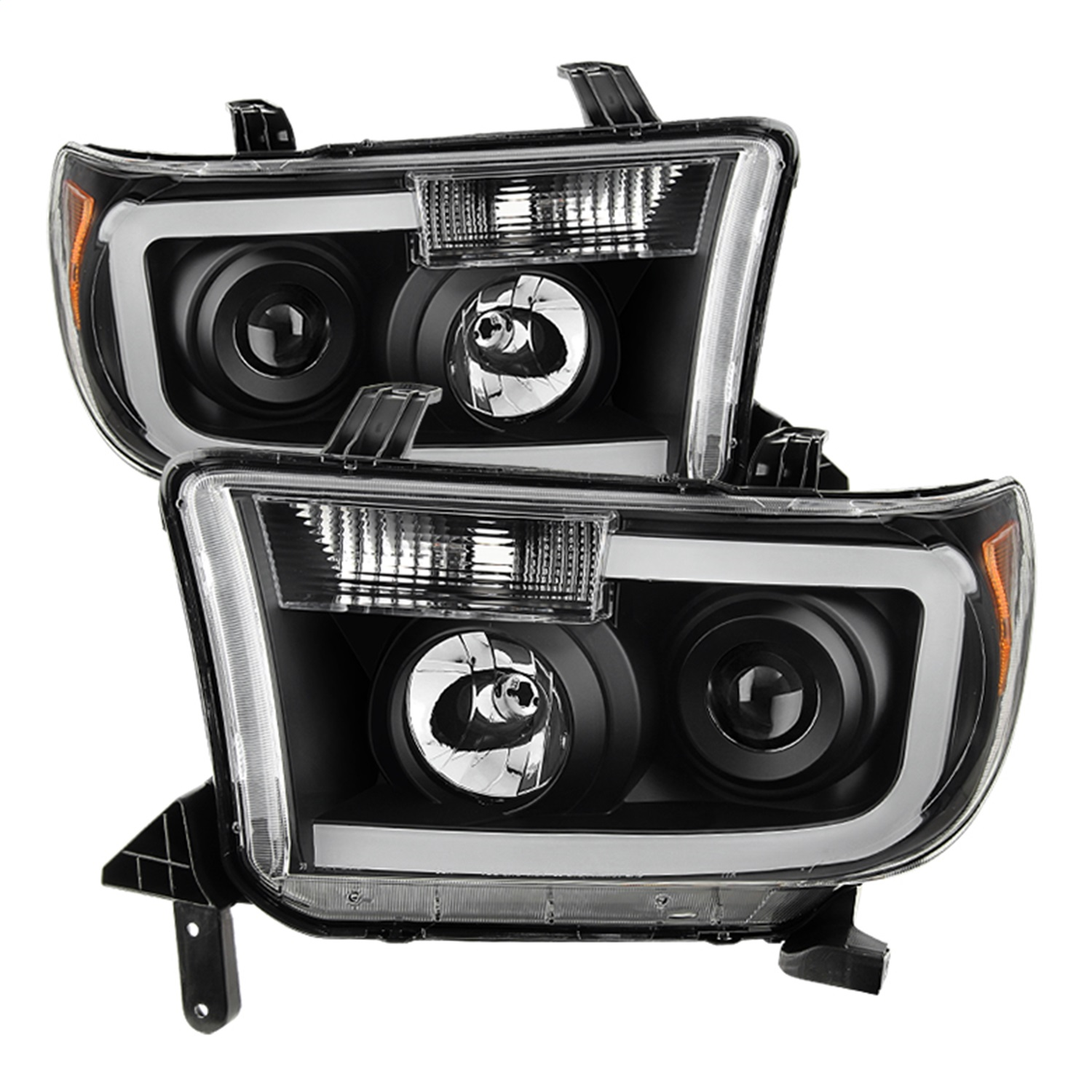 Details about Spyder Auto 9027888 XTune LED Light Bar Projector Headlights  Fits Sequoia Tundra