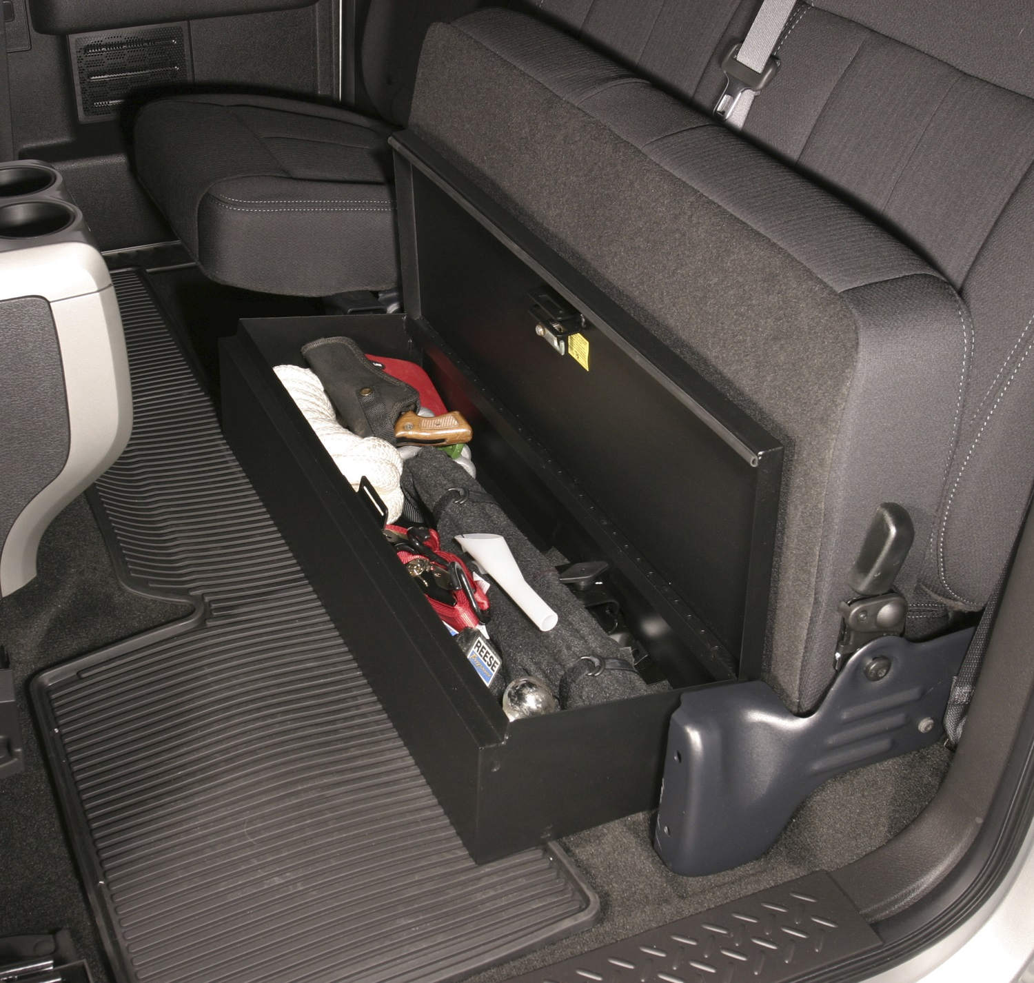 new tuffy security underseat lockbox 09 13 f 150 pickup interior storage ford tb ebay. Black Bedroom Furniture Sets. Home Design Ideas