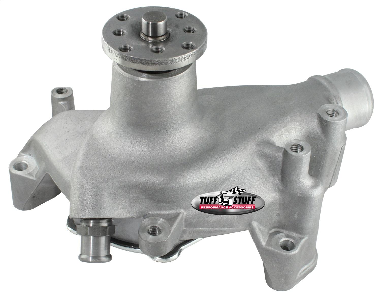 Tuff Stuff Water Pump 1511NA; High Volume Chrome Aluminum for Chevy 262-400 SBC