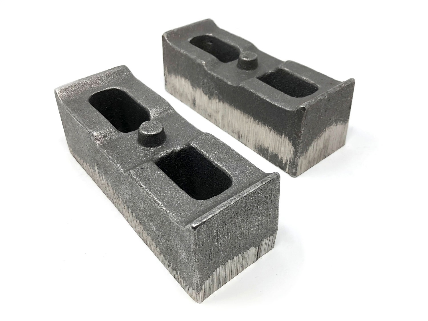 Axle Lift Blocks, 2 in. X 2.5 in., Pair, No Taper, Replaces Factory Blocks On Vehicles Equipped w/Them, Do Not Stack