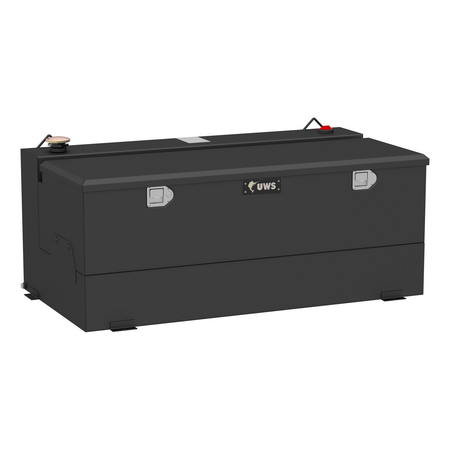 Combination Liquid Transfer Tank/Tool Box, 100 Gallon, Non Flammable Liquid, Matte Black, Steel