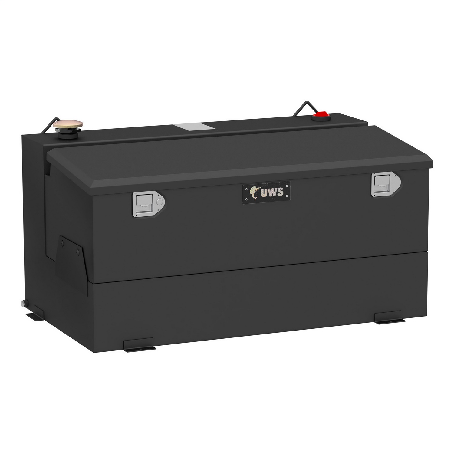 Combination Liquid Transfer Tank/Tool Box, 75 Gallon, Non Flammable Liquid, Matte Black, Steel