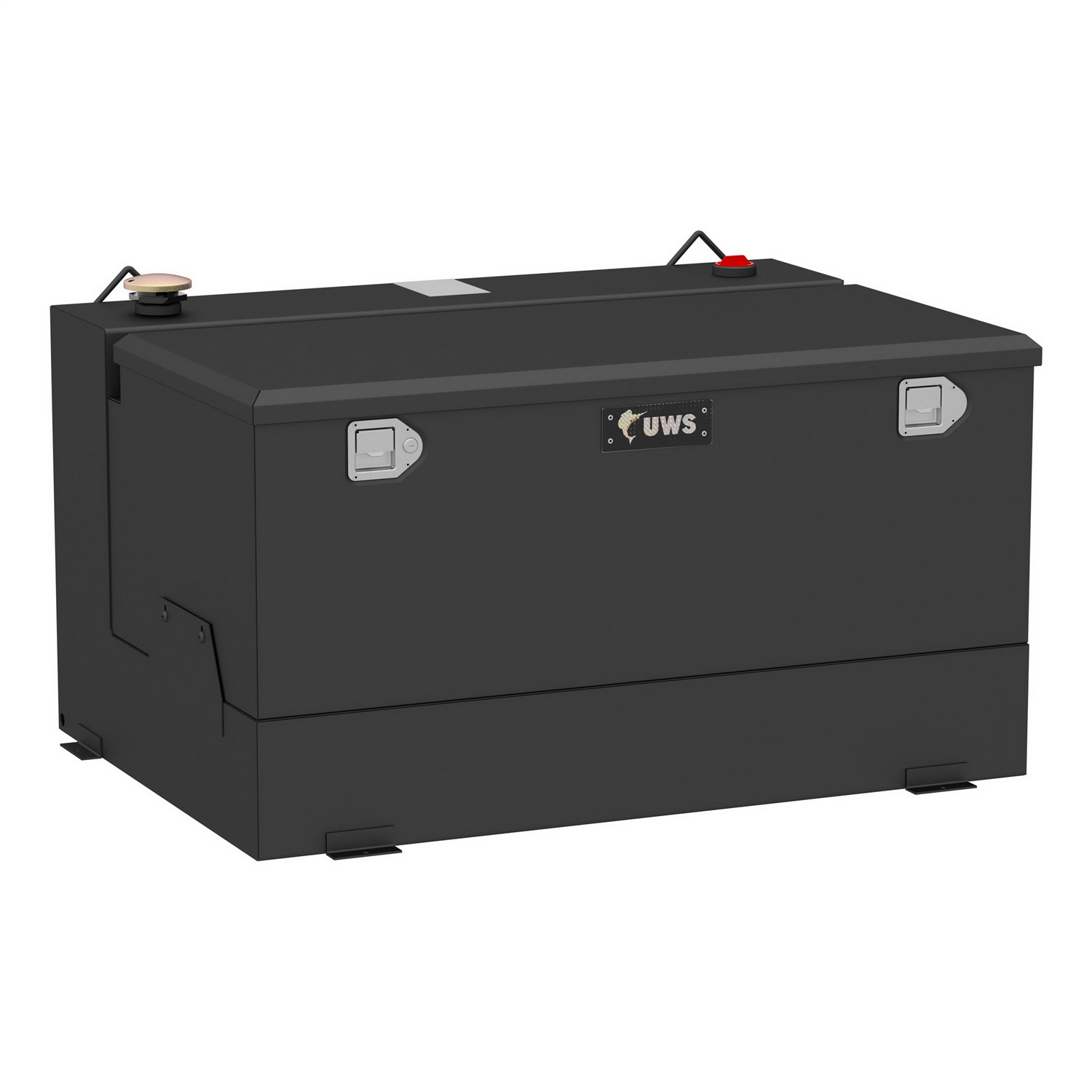 Combination Liquid Transfer Tank/Tool Box, 85 Gallon, Non Flammable Liquid, Matte Black, Steel