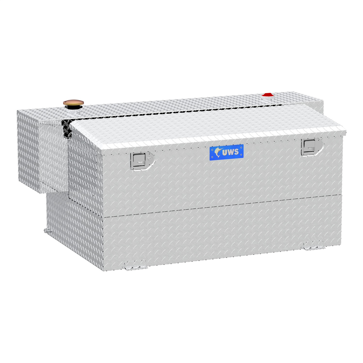 Combination Hammerhead Transfer Tank/Tool Box, 100 Gallon, Aluminum