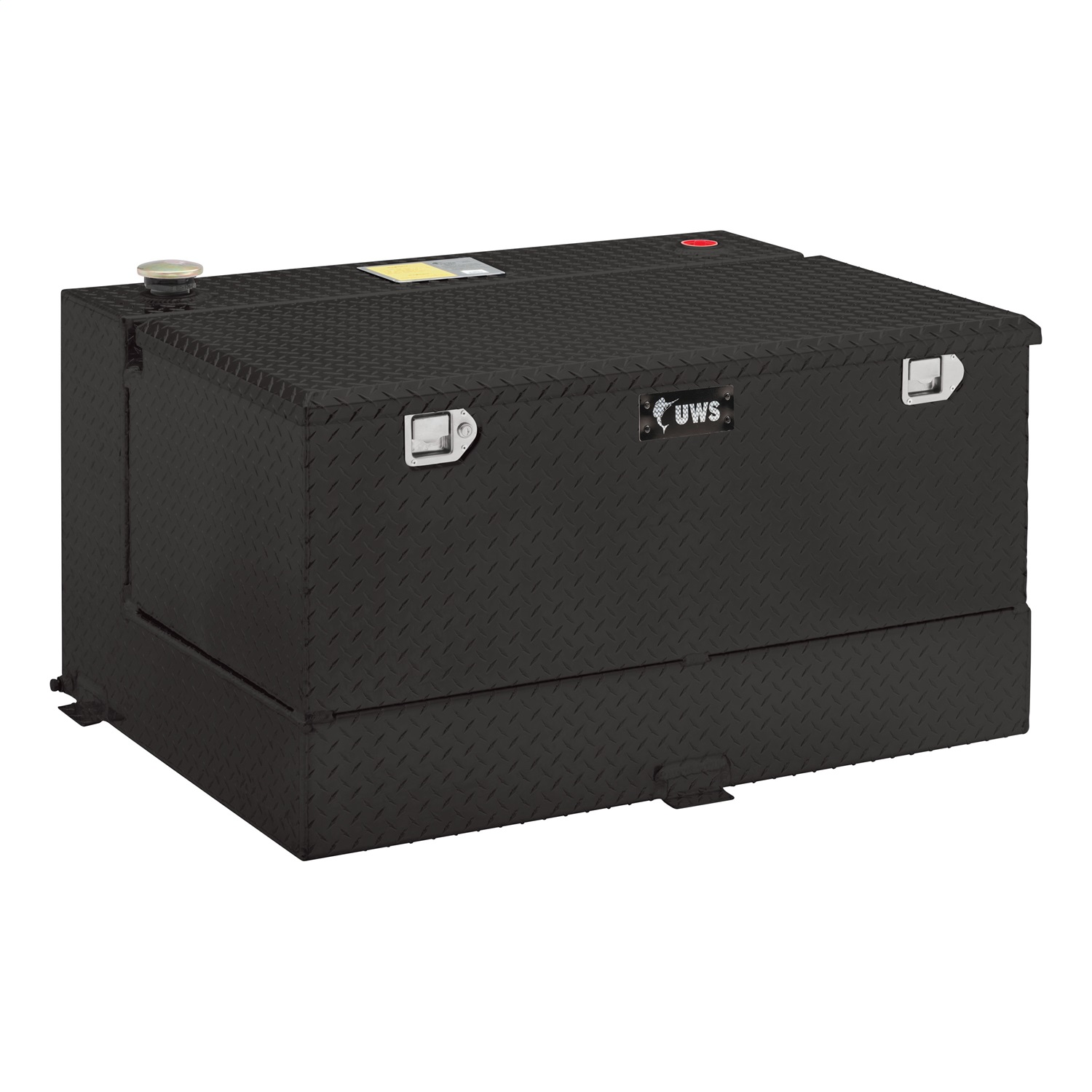 Combination Liquid Transfer Tank/Tool Box, Volume 45 Gallons, L 54 in. x W 18 in. x H 12 in., Black