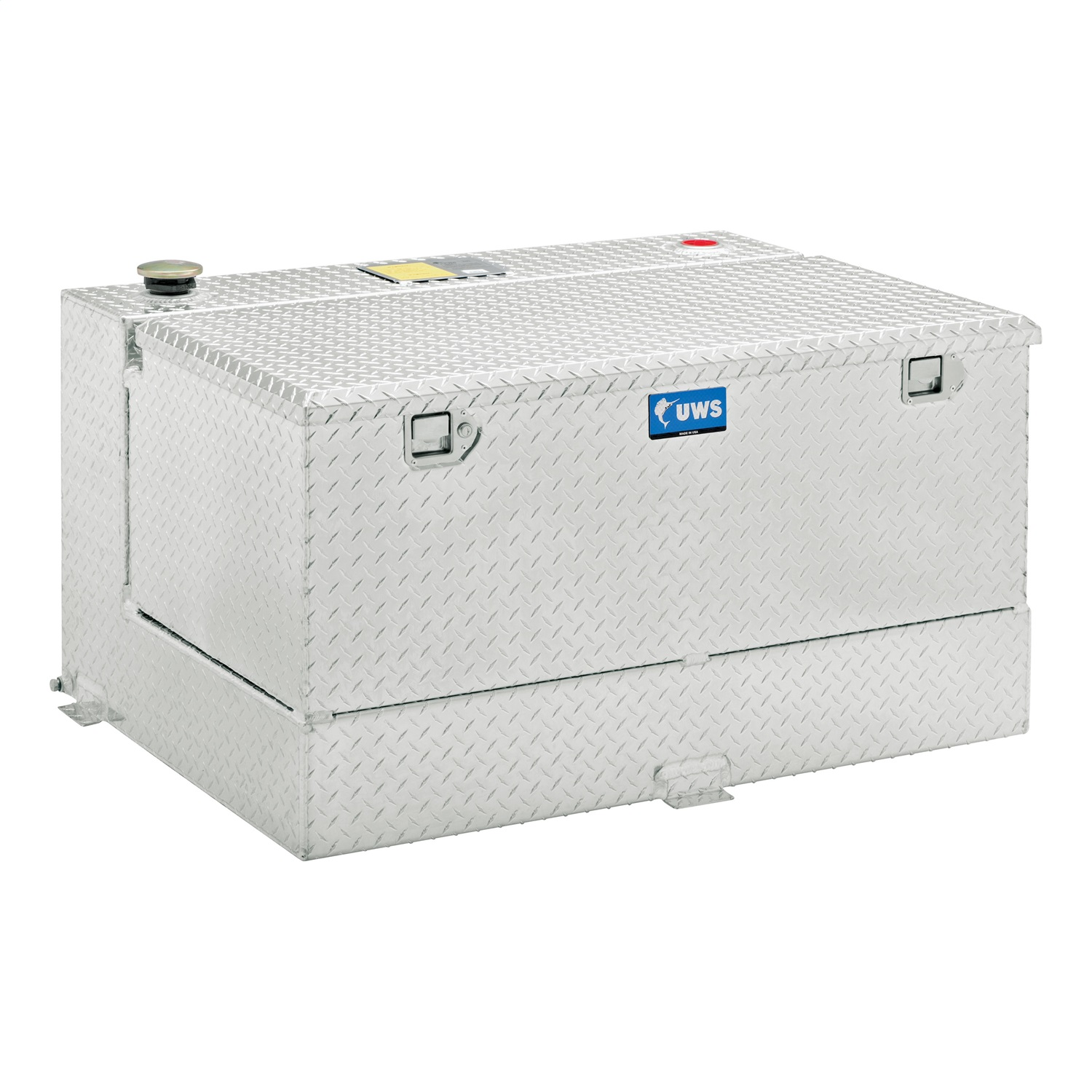 Combination Liquid Transfer Tank/Tool Box, Volume 45 Gallons, L 54 in. x W 18 in. x H 12 in., Silver