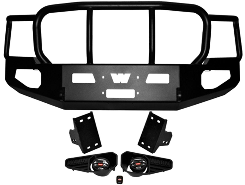 Warn 85887 Heavy Duty Bumper Fits 11-13 Silverado 2500 HD Silverado 3500 HD