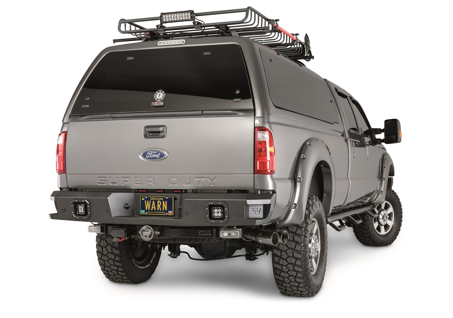 Warn 96290 Ascent Rear Bumper Fits 11-16 F-250 Super Duty F-350 Super Duty