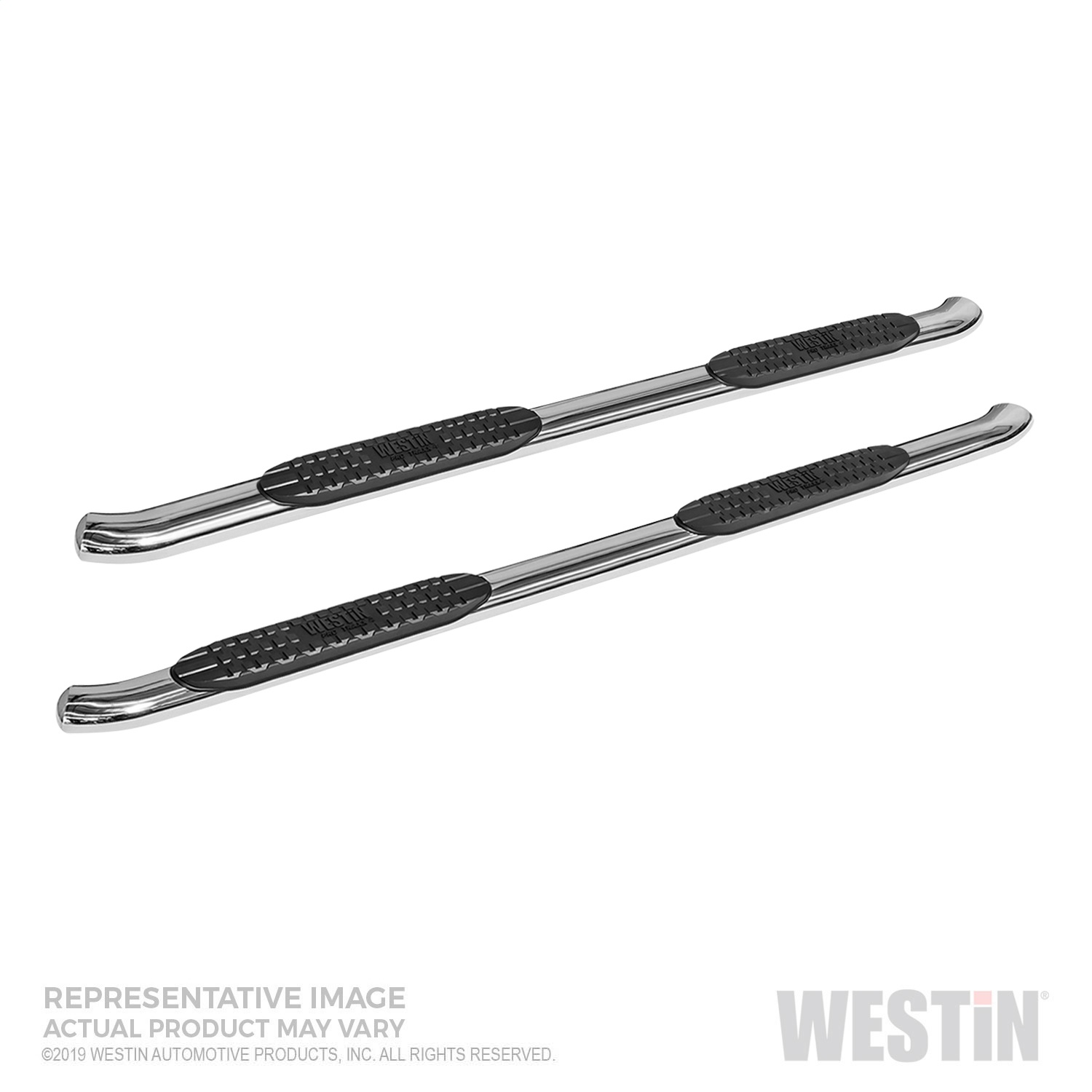 PRO TRAXX 4 Oval Nerf Step Bars, Stainless Steel, Incl. Mount Kit And Hardware,
