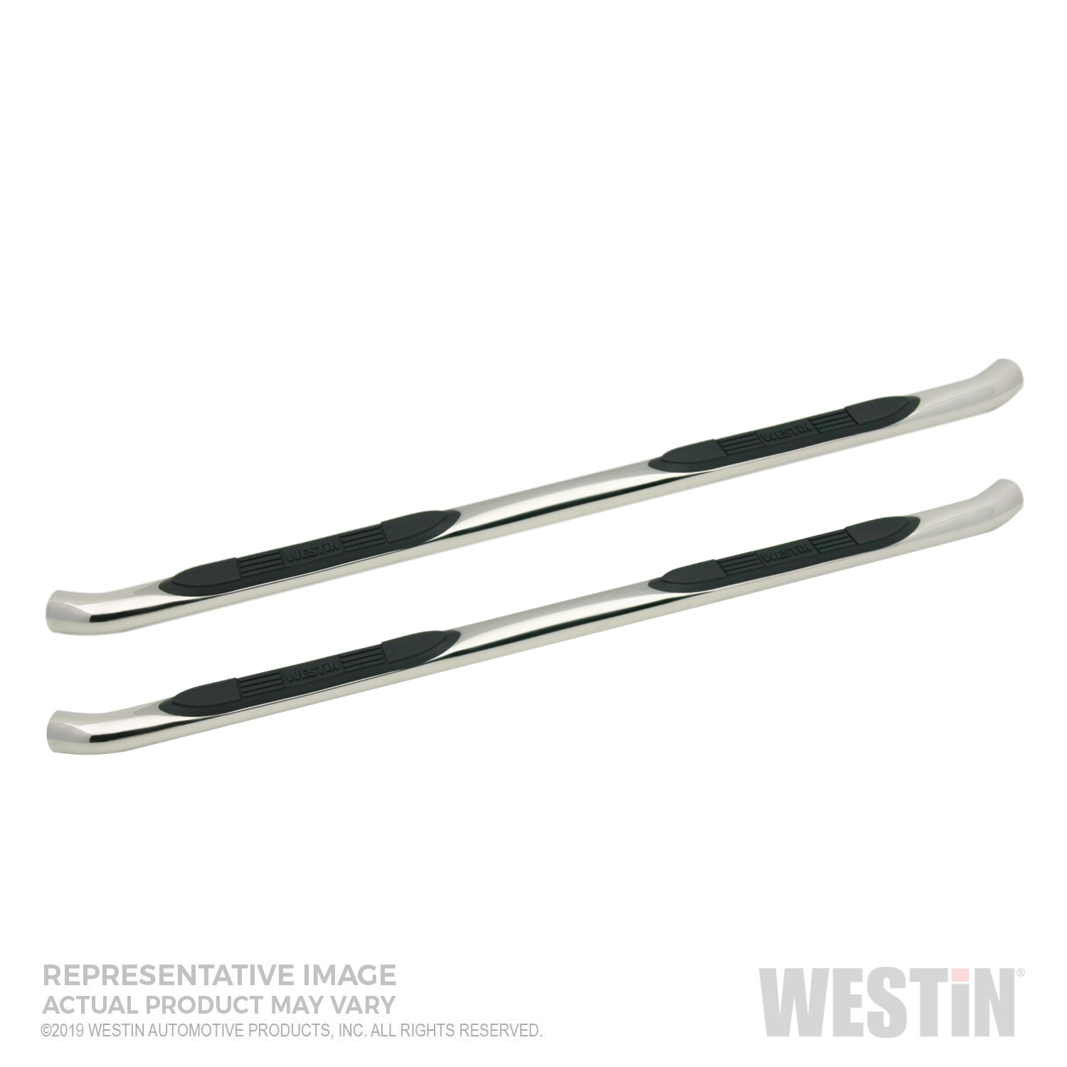 Westin 23-4150 E-Series 3 in. Round Step Bar Cab Length Fits 19 Ranger