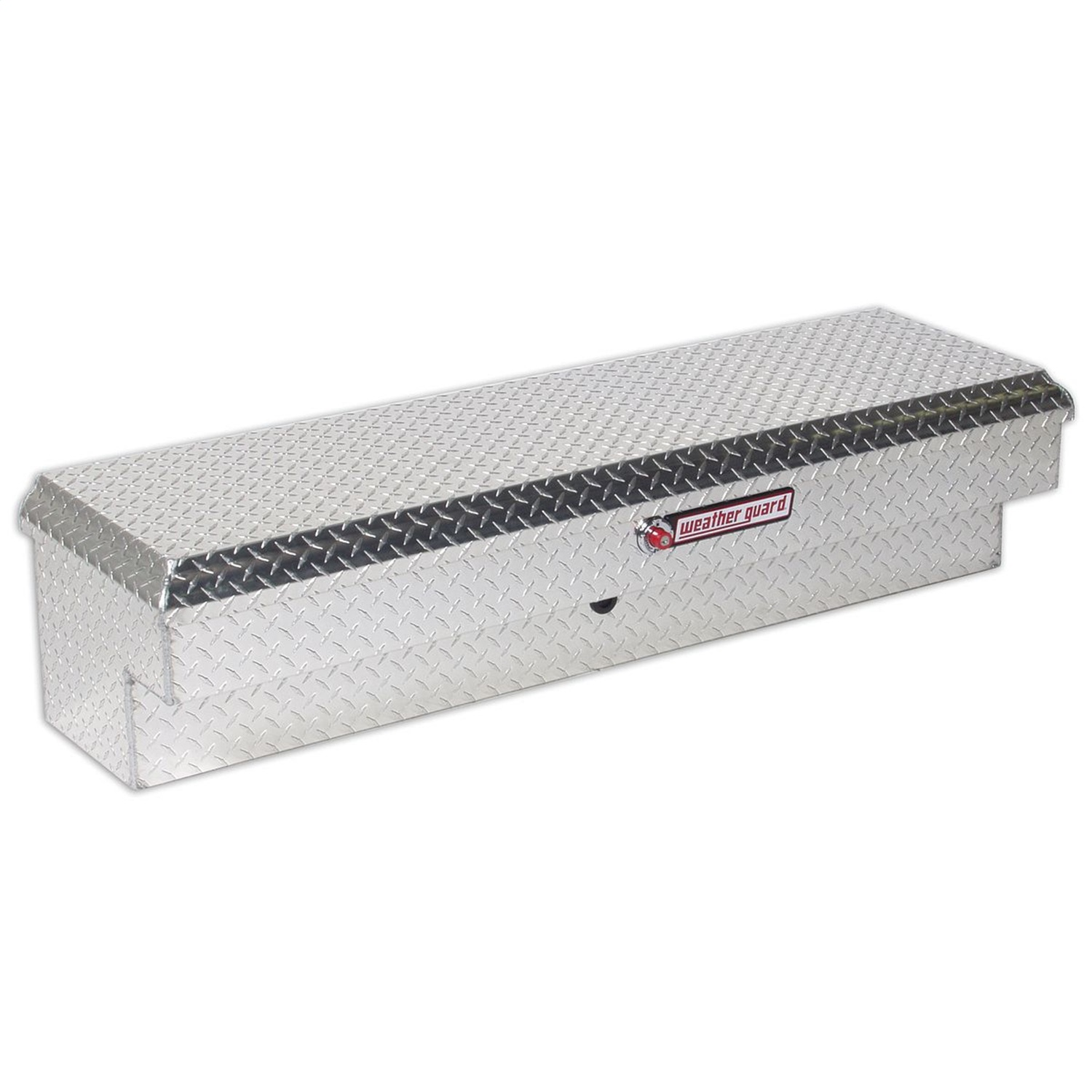 Lo-Side Box, Standard, 4.1 ft., Height 13.25 in., Length 56.25 in., Width 16.25 in., Clear, Heavy Duty Welded, Aluminum