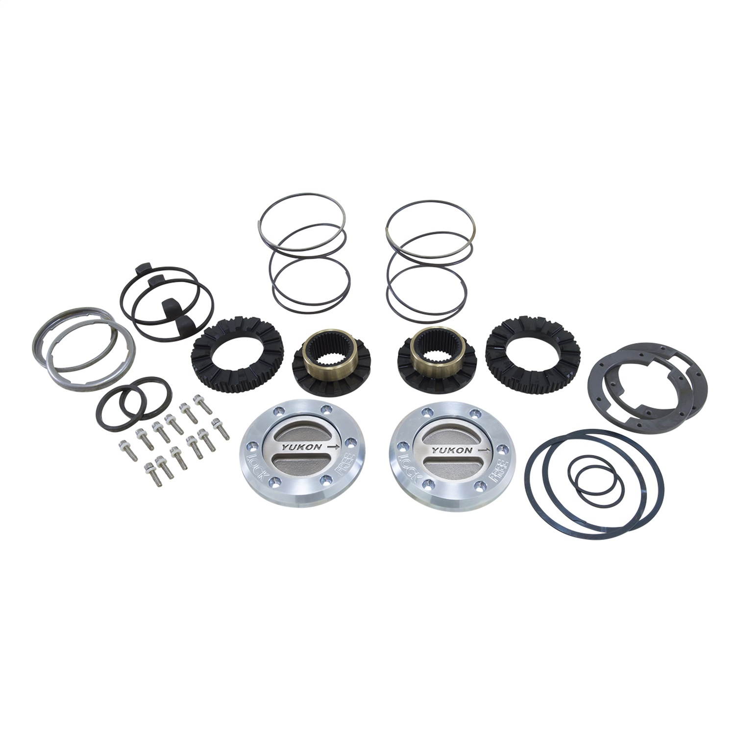 Yukon Gear & Axle YHC70001 Yukon Hardcore Locking Axle Hub Set